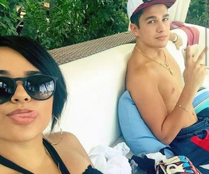 austin mahone, becky g, and couple image