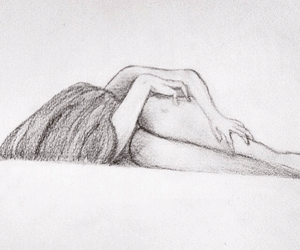 depression, drawing, and girl image