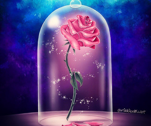 disney, belle, and rose image