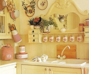 kitchen, decor, and vintage image