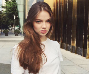 beautiful, model, and young image