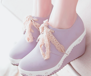 bows, lace, and shoes image