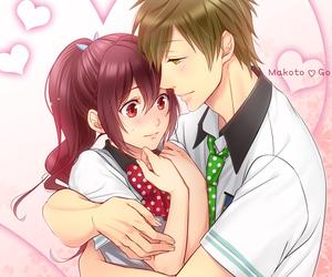 anime, hug, and boy image