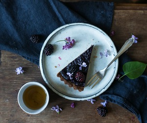 blackberry, dessert, and food image