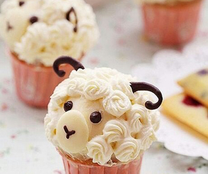 cupcake, cute, and sheep image