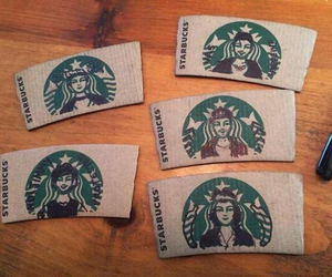one direction, starbucks, and 1d image