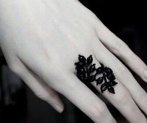 ring, black, and hand image