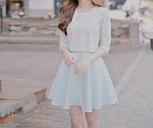 fashion, blue, and skirt image