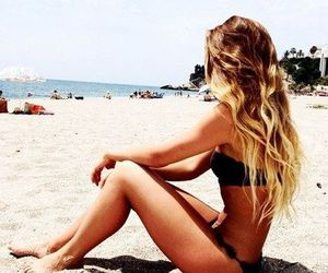 beach, blonde, and nature image