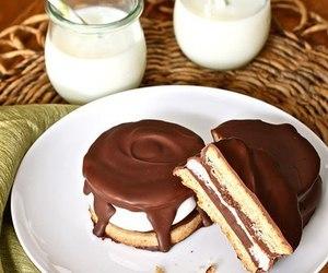 chocolate, sweet, and choco cake image