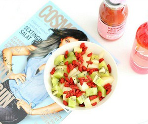 food, healthy, and magazine image
