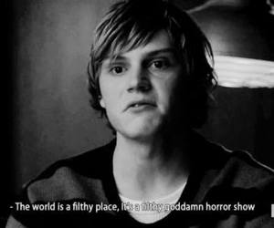 american horror story, evan peters, and gif image