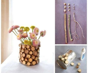 diy, flowers, and wood image