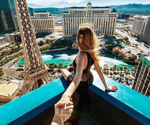 Las Vegas, travel, and couple image