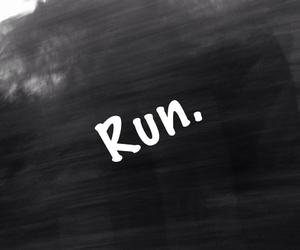 black, run, and sadness image