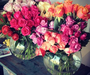 beautiful, roses, and bouquet image