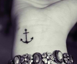 anchor, small, and tattoo image