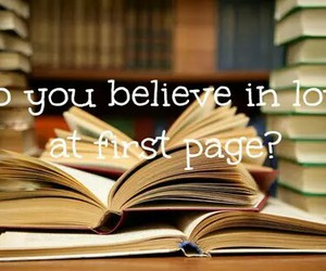 book, love, and page image