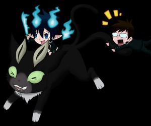 anime, rin, and blue exorcist image