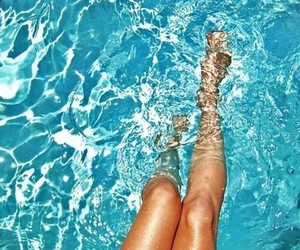 summer, water, and legs image