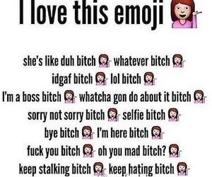 emoji, funny, and bitch image