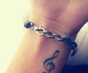 bracelet, music note, and small tattoo image