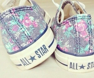 all star, cute, and flower pattern image