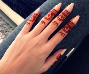 henna, beautiful, and girl image