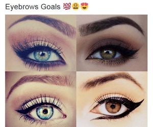 eyebrows, goals, and eyes image