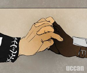 Assassins Creed, holding hands, and shipping image