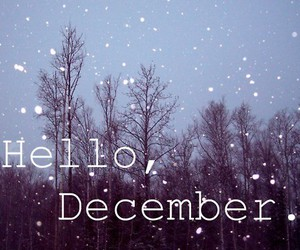 december, hello, and snow image