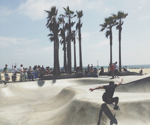 skate, beach, and summer image