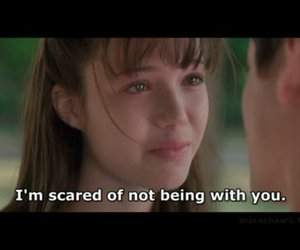 love, A Walk to Remember, and scared image