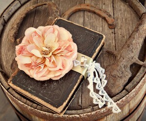 diary, flower, and pink image