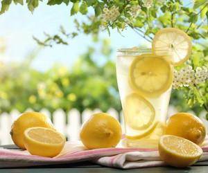 lemon, lemonade, and summer image