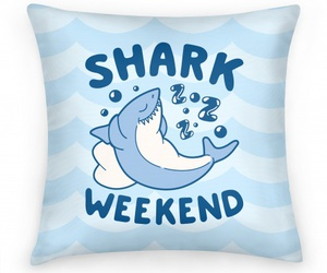 pillow, pillows, and shark image