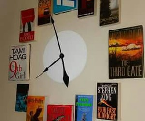 book, clock, and awesome image