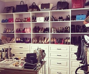 shoes, bag, and closet image