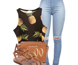 jeans, sandals, and top image