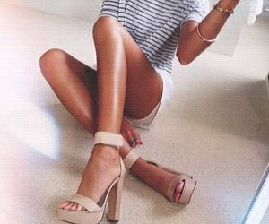 beige, fashion, and stripes image