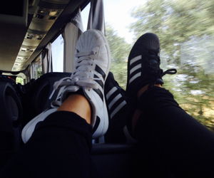 adidas, bus, and goals image