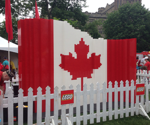 canada, flag, and lego image
