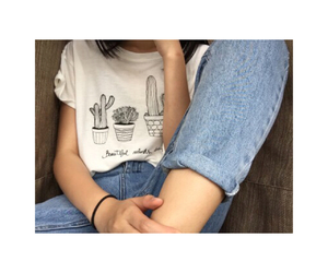 blue jeans, tenue, and ️fille image