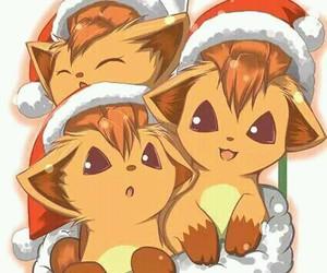 christmas, pokemon, and vulpix image