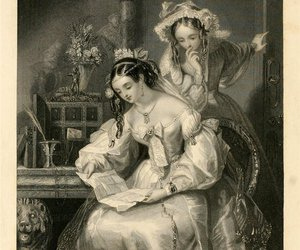 beauty, dress, and engraving image