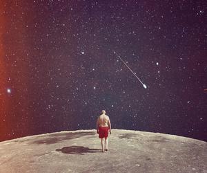 moon, man, and stars image