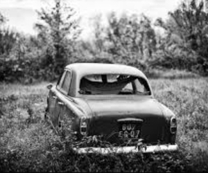 car, black and white, and black image