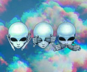 aliens, hippie, and hipster image