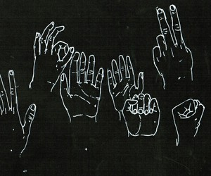 hands, black, and grunge image