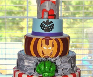 cake, Hulk, and Avengers image
